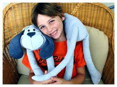 Children's Denim Dog Head Rest Pillow Toddler by BonJeanCreations, $30.49