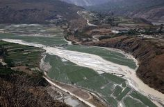 River turns white from pollution in China Horrifyingly sad. =(