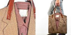 Business Casual Accessories - Recycled Suit Tote Bags are Professionally Fashionable (GALLERY)