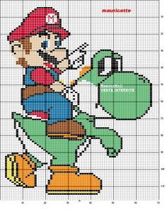 Schema punto croce Mario