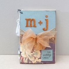 Make your wedding cards into a cute book :) doing this!