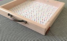 Chalky Pink Tray by Woodblends on Etsy