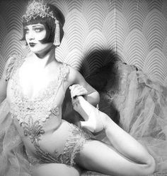 Burlesque Performer Vicky Butterfly. Photo by Neil Kendall. You can buy wallpaper just like this now online!