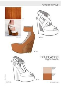 Close-Up Sketchbook Woman - Shoes 15 - S/S 2015 // technical flats Shoe Sketches, Fashion Sketches, Flat Sketches, Flat Drawings, Drawing Bag, Shoes 2018, Clarks, 2015 Fashion Trends, Technical Drawing