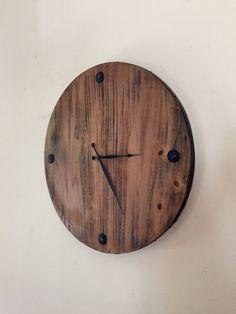 Beau Handmade Reclaimed Wood Clock Handmade 23 Large
