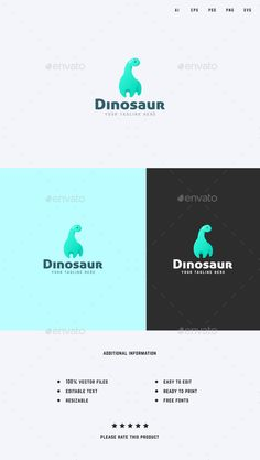 Dinosaur Logo Template - Animals Logo Templates