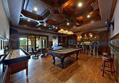 Traditional Game Room With Ceiling Fan  Hardwood Floors Billiard Light Balcony Wainscotting Luxury Amazing House Interiors Decor Pinterest