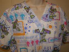 Disney Buzz Lightyear Womens Scrub Top Nurse Pediatrics Toy Story Short Sleeve M Top Nursing Schools, Nursing Career, Rn Nurse, Nurse Life, Associates Degree In Nursing, Disney Scrubs, Cute Scrubs, Scrubs Uniform, Scrub Life