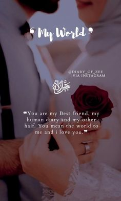 Sweet Love Quotes, Love Smile Quotes, Love Husband Quotes, Beautiful Love Quotes, Beautiful Islamic Quotes, Girly Quotes, Romantic Love Quotes, Love Quotes For Him, Wife Quotes