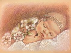 12x16 Custom portrait baby Portrait gift  pencil portrait
