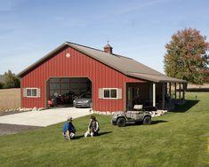 House plan great morton pole barns for wonderful barn inspiration. Pole Barn House Plans, Barn Garage, Pole Barn Homes, Garage Plans, Pole Barns, Garage Ideas, Garage Shop, Garage House, Garage Workshop