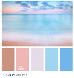 Colour palette - cool pinks and blues