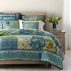A fresh twist on classic patchwork, the Wakefield Duvet Cover is a vibrant pastiche of geometric prints and bright botanicals.