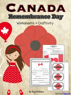 Remembrance Day ideas and worksheets for kids Library Activities, Holiday Activities, Holiday Crafts, Holiday Ideas, Canadian National Anthem, Remembrance Day Activities, Guide Badges, Remembrance Day Poppy, Remember Day