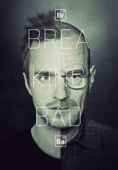 2 breaking bad jessi walter white poster mixed faces typography design