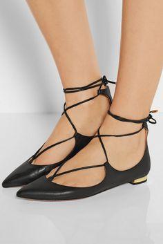 4171043e291 2015 Diseñador de las mujeres del dedo del pie puntiagudo cuero genuino  lace up pisos zapato
