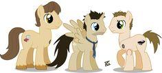 Sam, Cas and Dean as horses...sweet