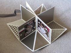 Tamara's Paper Trail: Fold Up Scrap Album  TUTORIAL HERE
