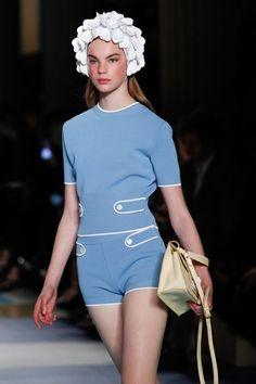 See detail photos from the Miu Miu Spring 2017 show at Paris Fashion Week.