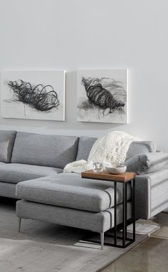 With more space to relax, a sectional is a great way to put your feet up.