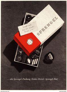 Werbung - Original-Werbung/ Anzeige 1955 - SPRENGEL SCHOKOLADE / PRALINEN - ca. 160 x 220 mm