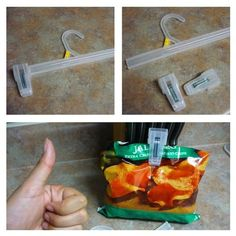 Life hacks really do make your life so much easier and most are using things you already have around your home. One of the best feelings is solving a problem without having to spend a lot of money. Enjoy these amazing 27 life hacks. Bag Clips, Hanger Clips, New Uses, Useful Life Hacks, Easy Life Hacks, Everyday Items, Everyday Hacks, Saving Ideas, Kitchen Hacks
