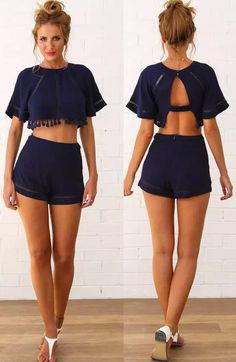 ideas for fashion outfits shorts crop tops Crop Top Und Shorts, Crop Tops, Summer Outfits, Casual Outfits, Cute Outfits, Teen Fashion, Fashion Outfits, Womens Fashion, Mode Shoes