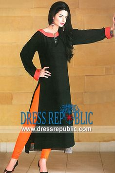 Black Sularia, Product code: DR8833, by www.dressrepublic.com - Keywords: Casual Shalwar Kameez Stores on Facebook, Casual Dress Designers on Facebook