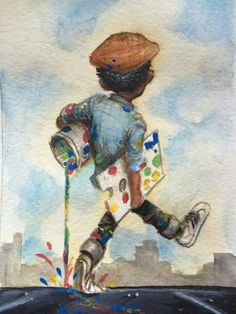 Artist Frank Morrison Black Girl Art, Black Women Art, Black Man, Black Kids, African American Artist, African Art, Frank Morrison Art, Harlem Renaissance Artists, Black Art Pictures