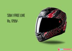 #Helmet SBA 1 FREE LIVE MAT BLACK WITH RED #Bikerssafety order now from www.yooshopper.com,http://www.yooshopper.com/product/16809/547/sba-1-free-live-mat-black-with-red?lcId=145431