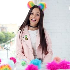 Want to get on the pom-pom trend? @jennaortega shows us how to rock poms in our latest YouTube video  Search 'clairesstores'