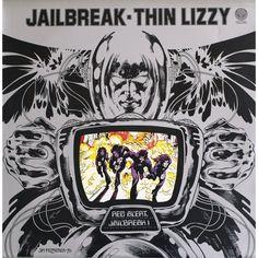 ☮ American Hippie Psychedelic Rock Music Album Cover Art ~ Thin Lizzy .. Jailbreak