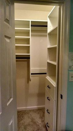 I wish they had this in my apartment closet. Almost the exact same size closet. 40 Best Small Walk In Bedroom Closet Organization and Design Ideas for 2019 60 Small Closet Design, Small Master Closet, Walk In Closet Small, Master Closet Design, Master Bedroom Closet, Closet Designs, Diy Bedroom, Master Bedrooms, Closet Ideas For Small Spaces Bedroom