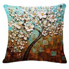 20 Styles 3D Vintage Flower Cotton Linen Pillow Case Waist Cushion Cover Bags Home Car Deco