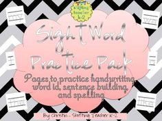 Sight Word Practice - handwriting, word id, spelling, sentence writing from Shifting Teacher K-2 on TeachersNotebook.com -  - I have made this pack to use in my classroom to assist my students with learning basic sight words.  This pack includes 24 sight words:  my, a, the, like, we, I, on, to, go, no, do, you, have, no,  see, what, come, look, for, me, one, little, here, are, a