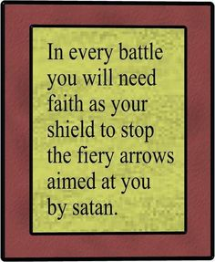 With the faith of God Satan does not stand a chance...