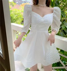 Girly Outfits, Pretty Outfits, Pretty Dresses, Beautiful Dresses, Dress Outfits, Fashion Dresses, Korean Girl Fashion, Ulzzang Fashion, Asian Fashion