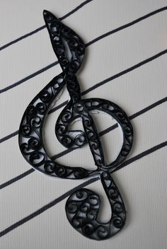 Quilled Treble Clef on Staff / Not Just Another Mom