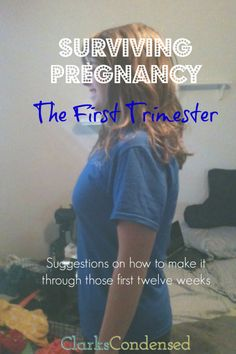 Surviving Pregnancy: The First Trimester! Pregnancy has its ups and downs. Some have more ups than others, but it's definitely a crazy ride. Here are some tips on how to survive the first trimester. Trimesters Of Pregnancy, First Pregnancy, Pregnancy Tips, Early Pregnancy, Pregnancy Style, Pregnancy Fashion, Pregnancy Outfits, Pregnancy Workout, Maternity Fashion