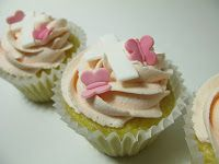 A Baked Creation: Butterflies and Cross Christening Cupcakes