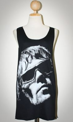 Ian Brown The Stone Roses Black Singlet Tank Top Sleeveless Women Art Punk Rock T-Shirt Size M