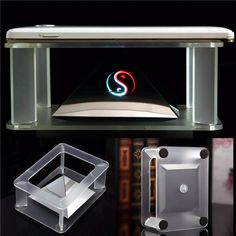 Holographic 3D Phones Projection Pyramid For iPhone Samsung 3.5\'\'~6\'\' Mobile Phone