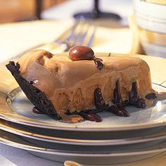 Frozen Coffee-Fudge Pie | CookingLight.com