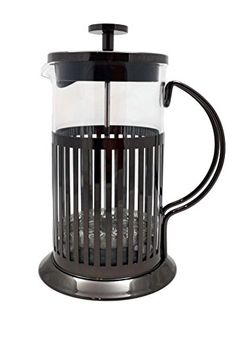Brandani Borosilicate Glass French Coffee Press and Tea Infuser Titanium >>> Check out this great product by click affiliate link Amazon.com