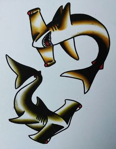 sailor jerry sharks | 1000+ images about Shark traditional tattoo on Pinterest | Sharks ...