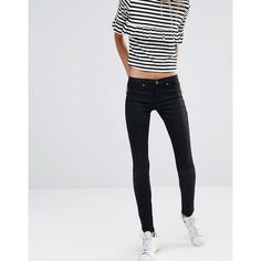 Ditto's Jessica Skinny Jeans featuring polyvore, women's fashion, clothing, jeans, black, tall skinny jeans, dittos jeans, tall jeans, denim skinny jeans and skinny leg jeans