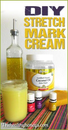 DIY Stretch mark Cream using great oils for healthy skin and essential oils.