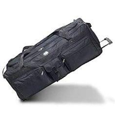 03bbbef27d Bagiva Everest Wheeled Duffel 42-Inch Travel Gear Luggage Sports Gym Bag (Black