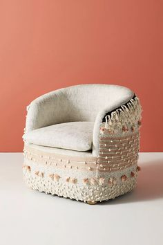 All Roads Brea Accent Chair by Design in Assorted Size: All, Chairs at Anthropologie Three Drawer Dresser, Ceramic Stool, Hanging Furniture, Outdoor Stools, Patterned Armchair, Office Chair Without Wheels, Cool Chairs, Arm Chairs, Lounge Chairs