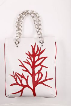 Coral Red and Withe